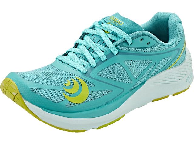 Topo Athletic Zephyr Zapatillas Running Mujer, Azul petróleo/amarillo